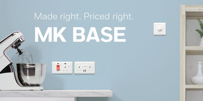 Popular - MKElectric launches newMKBase range of white moulded switches and sockets