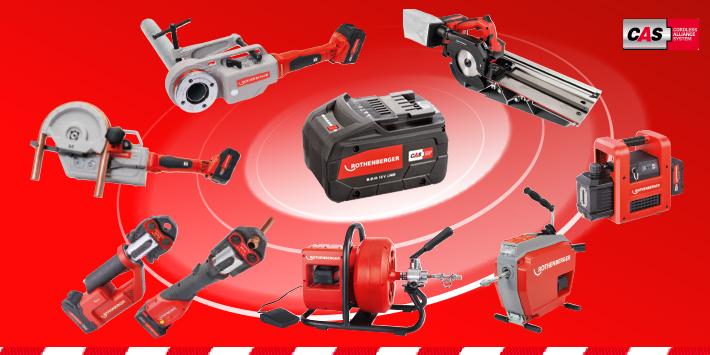 Popular - Leading manufacturer-independent battery system teams up with Rothenberger