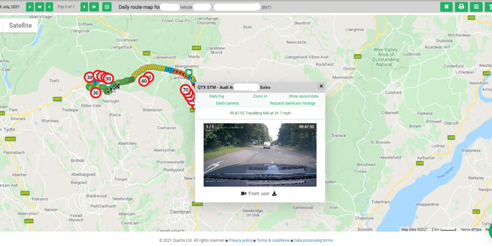 Popular - Quartix launches enhanced vehicle camera and tracking map integration