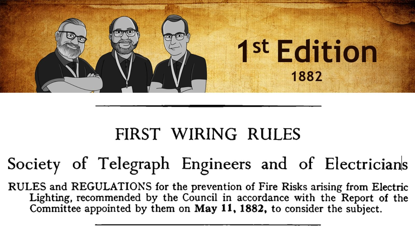 Popular - Free e5 webinar this week – 'History of the wiring rules'