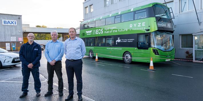 Popular - World's first hydrogen-powered double-decker bus visits Baxi factory