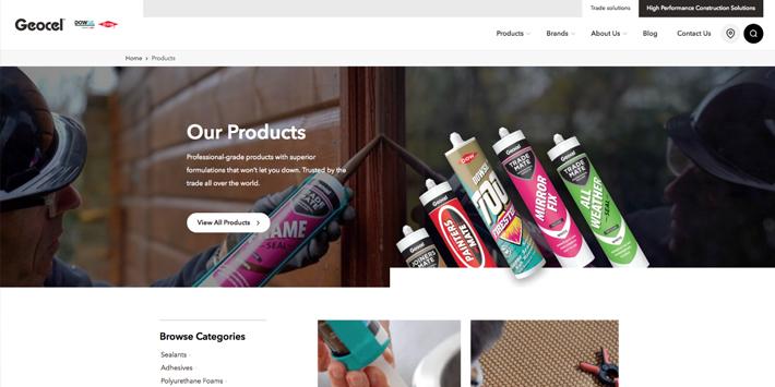 Popular - Geocel launches brand new website
